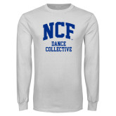 White Long Sleeve T Shirt-Dance Collective