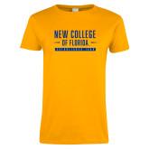 Ladies Gold T Shirt-New College Established