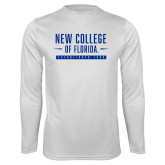 Performance White Longsleeve Shirt-New College Established