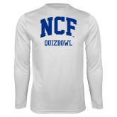 Performance White Longsleeve Shirt-Quizbowl