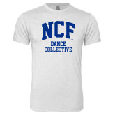 Next Level Heather White Tri Blend Crew-Dance Collective