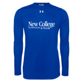 Under Armour Royal Long Sleeve Tech Tee-Wordmark