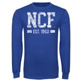 Royal Long Sleeve T Shirt-NCF Est.