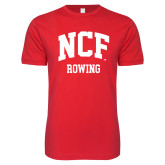 Next Level SoftStyle Red T Shirt-Rowing