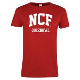 Ladies Red T Shirt-Quizbowl