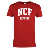 Ladies Red T Shirt-Rowing
