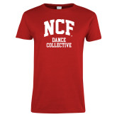 Ladies Red T Shirt-Dance Collective