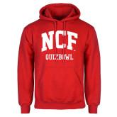 Red Fleece Hoodie-Quizbowl