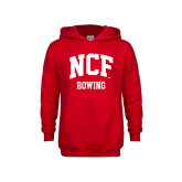 Youth Red Fleece Hoodie-Rowing