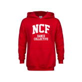 Youth Red Fleece Hoodie-Dance Collective