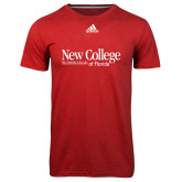 Adidas Climalite Red Ultimate Performance Tee-Wordmark