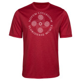 Performance Red Heather Contender Tee-Primary