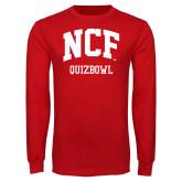 Red Long Sleeve T Shirt-Quizbowl