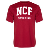 Performance Red Tee-Swimming