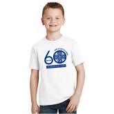 Youth White T Shirt-60th Anniversary