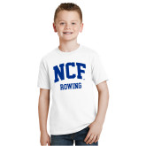 Youth White T Shirt-Rowing