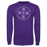 Purple Long Sleeve T Shirt-Primary
