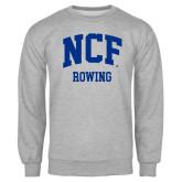 Grey Fleece Crew-Rowing