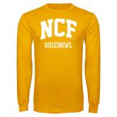 Gold Long Sleeve T Shirt-Quizbowl