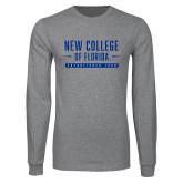 Grey Long Sleeve T Shirt-New College Established