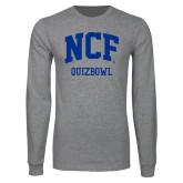 Grey Long Sleeve T Shirt-Quizbowl