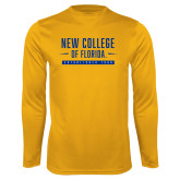 Performance Gold Longsleeve Shirt-New College Established