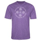 Performance Purple Heather Contender Tee-Primary