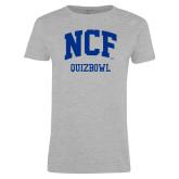 Ladies Grey T Shirt-Quizbowl