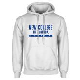White Fleece Hoodie-New College Established