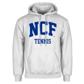 White Fleece Hoodie-Tennis