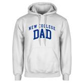 White Fleece Hoodie-Dad