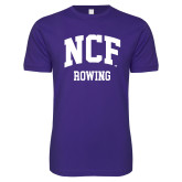 Next Level SoftStyle Purple T Shirt-Rowing