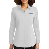 Ladies OGIO Commuter White Woven Blouse-Wordmark