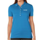 Ladies Callaway Opti Vent Sapphire Blue Polo-Wordmark