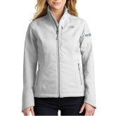 The North Face Ladies Apex Barrier Light Grey Heather Softshell Jacket-Wordmark