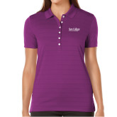 Ladies Callaway Opti Vent Purple Polo-Wordmark