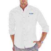 Tommy Hilfiger White Solid Oxford Shirt-Wordmark