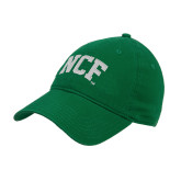 Kelly Green Twill Unstructured Low Profile Hat-NCF Arch Embroidery