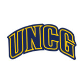 Medium Decal-Arched UNCG, 8 inches tall
