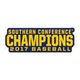 Medium Decal-Baseball SoCon Champions 2017 Text, 8 inches wide