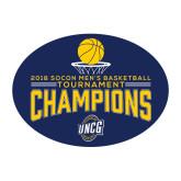 Medium Decal-2018 Mens Basketball Champions - Net w/ Basketball