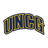 Large Decal-Arched UNCG, 12 inches tall