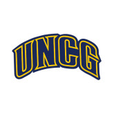Small Decal-Arched UNCG, 6 inches tall