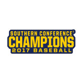 Small Decal-Baseball SoCon Champions 2017 Text, 6 inches wide