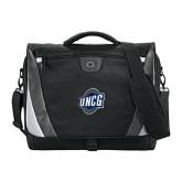 Slope Black/Grey Compu Messenger Bag-UNCG Shield