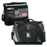 Slope Black/Grey Compu Messenger Bag-Spartan Logo