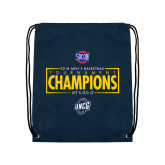 Navy Drawstring Backpack-2018 Mens Basketball Champions - Box