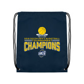 Navy Drawstring Backpack-2018 Mens Basketball Champions - Net w/ Basketball