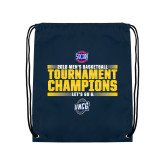 Navy Drawstring Backpack-2018 Mens Basketball Champions - Stacked