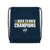 Navy Drawstring Backpack-2018 Back to Back Regular Season Champions